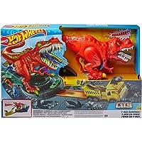 Hot Wheels City T-Rex Devorador Destructor, Pista de Coches de Juguete con Dinosaurio (Mattel GWT32), multicolor, única…