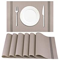Deals on Artand Placemat Crossweave Woven Table Mats Set of 6