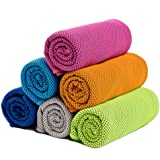 ZONLY [6 Pack] Cooling Towel, Ice Sports Towel, Cool Towel for Instant Cooling,for Yoga, Travel, Golf, Gym,Camping…