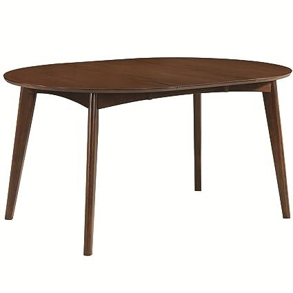 7eda818584 Amazon.com - Malone Oval Dining Table Dark Walnut - Tables