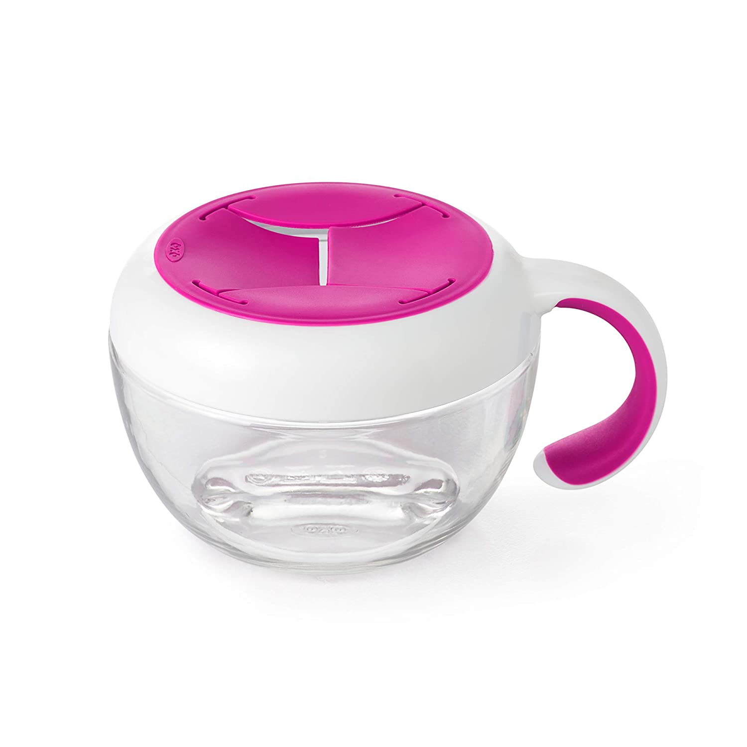 OXO Tot Flippy Snack Cup with Travel Lid - Pink