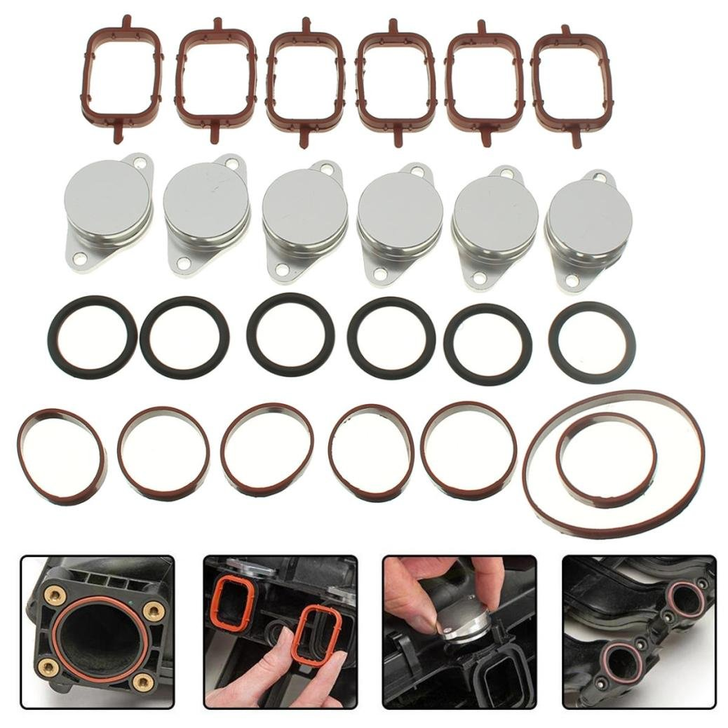 Dreamyth 25Pcs 6 x 32mm Swirl Flap Replacements Removal Blanks Manifold Gaskets For BMW