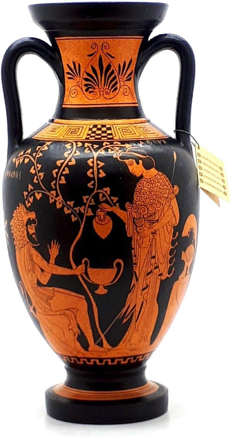 Ancient Greek Vase Red Figure Amphora Teacher of Music /& Athena 12.6