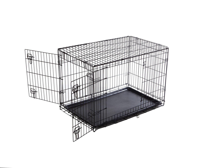 Catral Tom–Tiere Käfig faltbar, 63x 91.5x 57cm, Schwarz