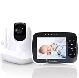 HD Baby Monitor with Camera and Audio | 2-Way Long-Range Video Baby Monitor with Wide-Angle, Night Vision Temperature, and Pan-Tilt Remote