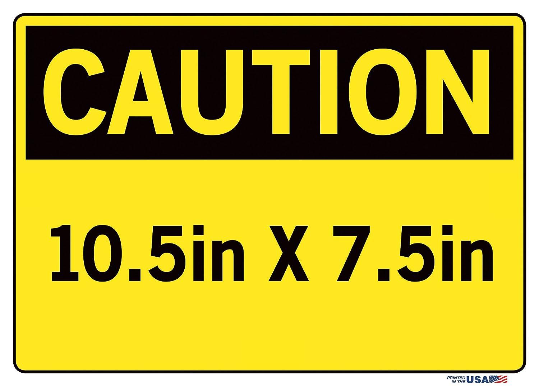 Vestil Caution Sign SI-C-68-C-AL-040-S Aluminum .040 Overall Size 14.5W x 10.5H Chock Wheels CU/ÑAS