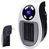 Programmable Space Heater with Led Display Wall Outlet Electric Heater with Adjustable Thermostat and Timer for Home Office I