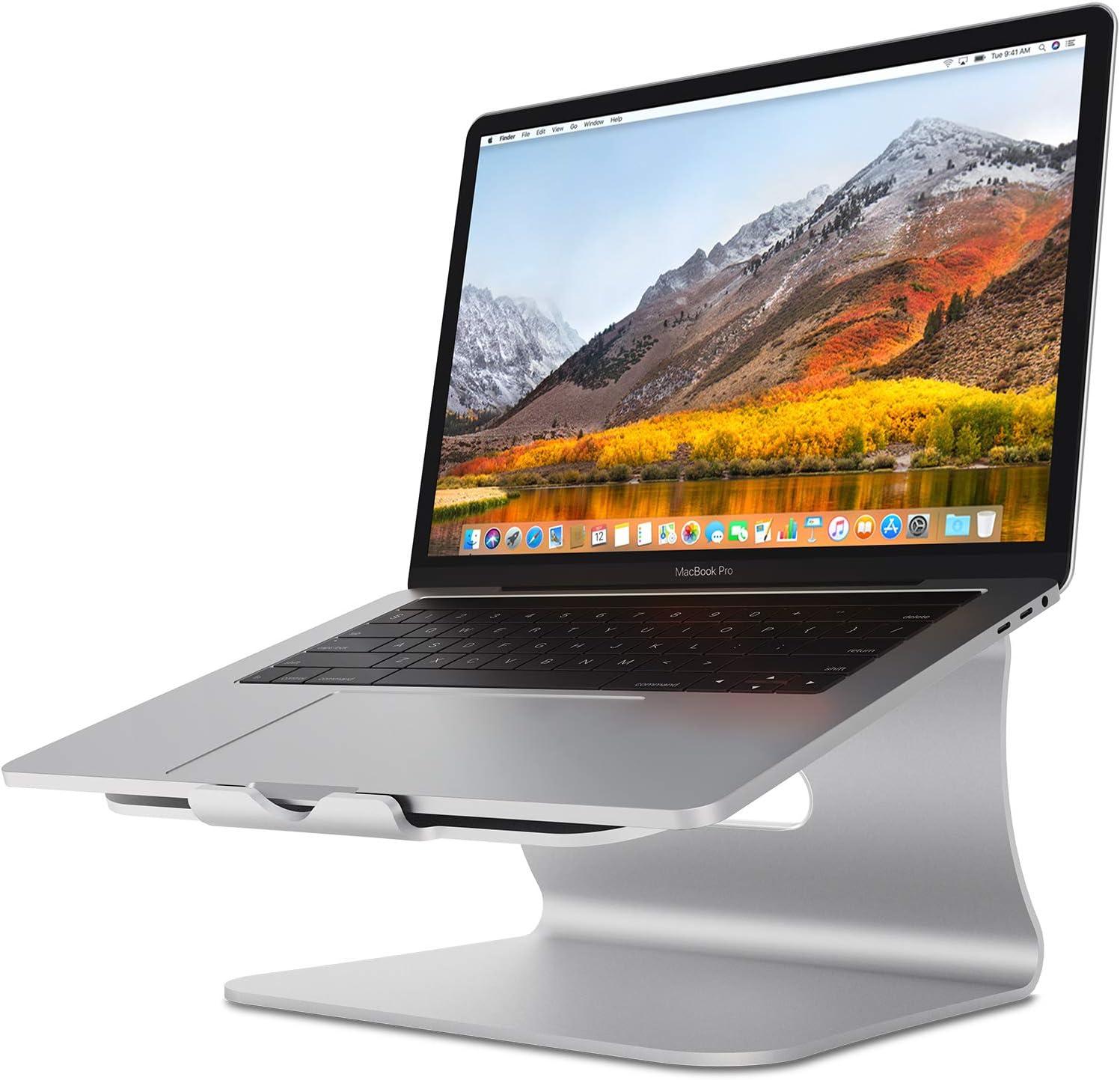 Soporte Para Laptop De Aluminio Stand plateado Bestand