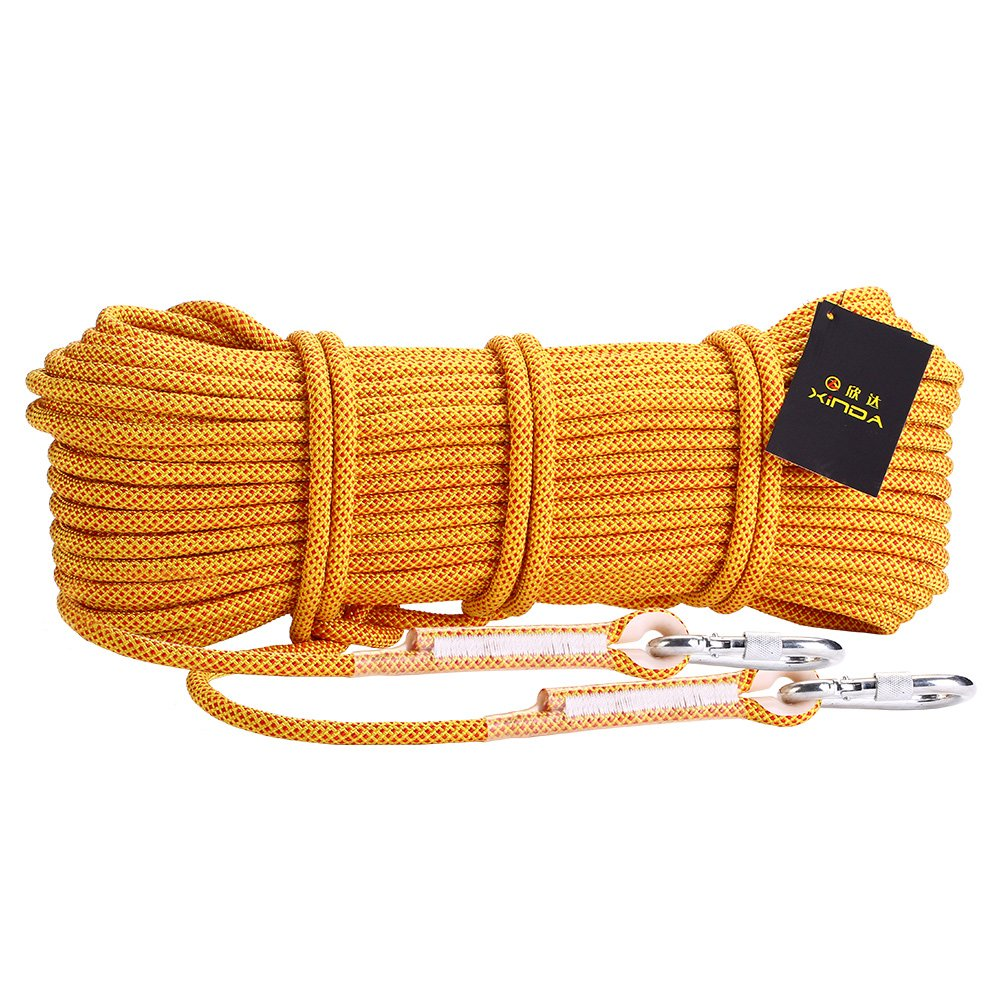 10.5mm Heavy Climbing Rope Rappelling Auxiliary Cord Survival Equipment w/Buckle Generic