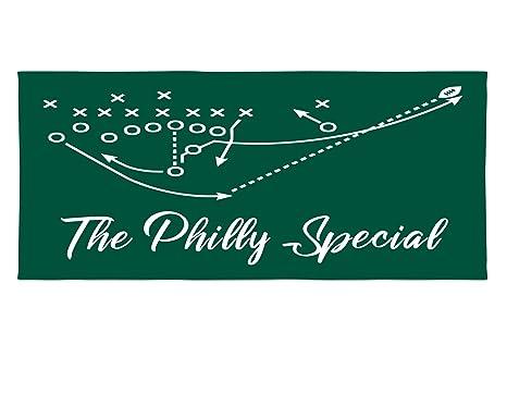 4cf302959a1 Amazon.com   Personalized Corner Philadelphia Eagles Beach Towel ...
