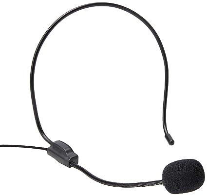 Eboxer Auriculares de Diadema con Micrófono, Mini Micrófono Portátil DE 3.5 mm Mic para Altavoz