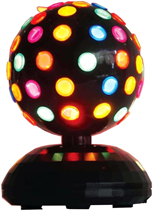 amazon com forum novelties multi colored 8 disco ball rainbow