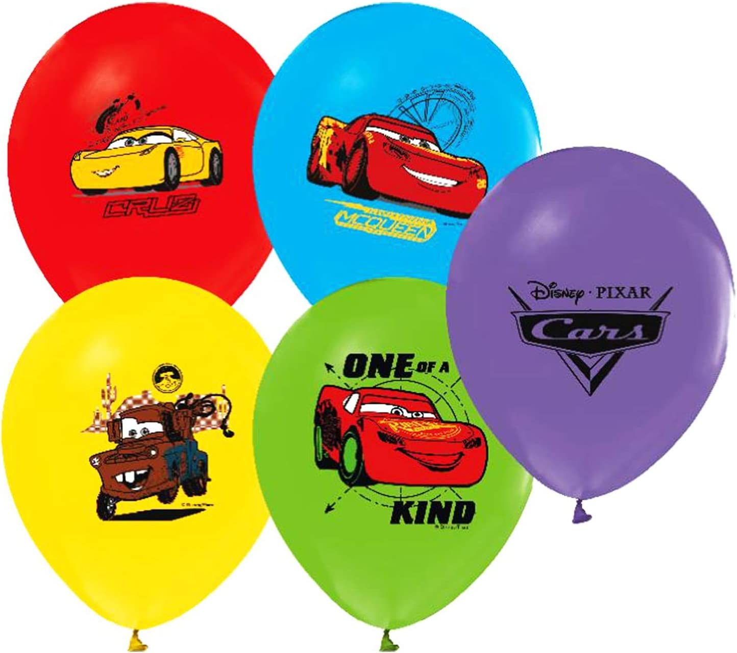 Amazon.com: Disney Cars Balloons 12.0 in Pixar Látex ...