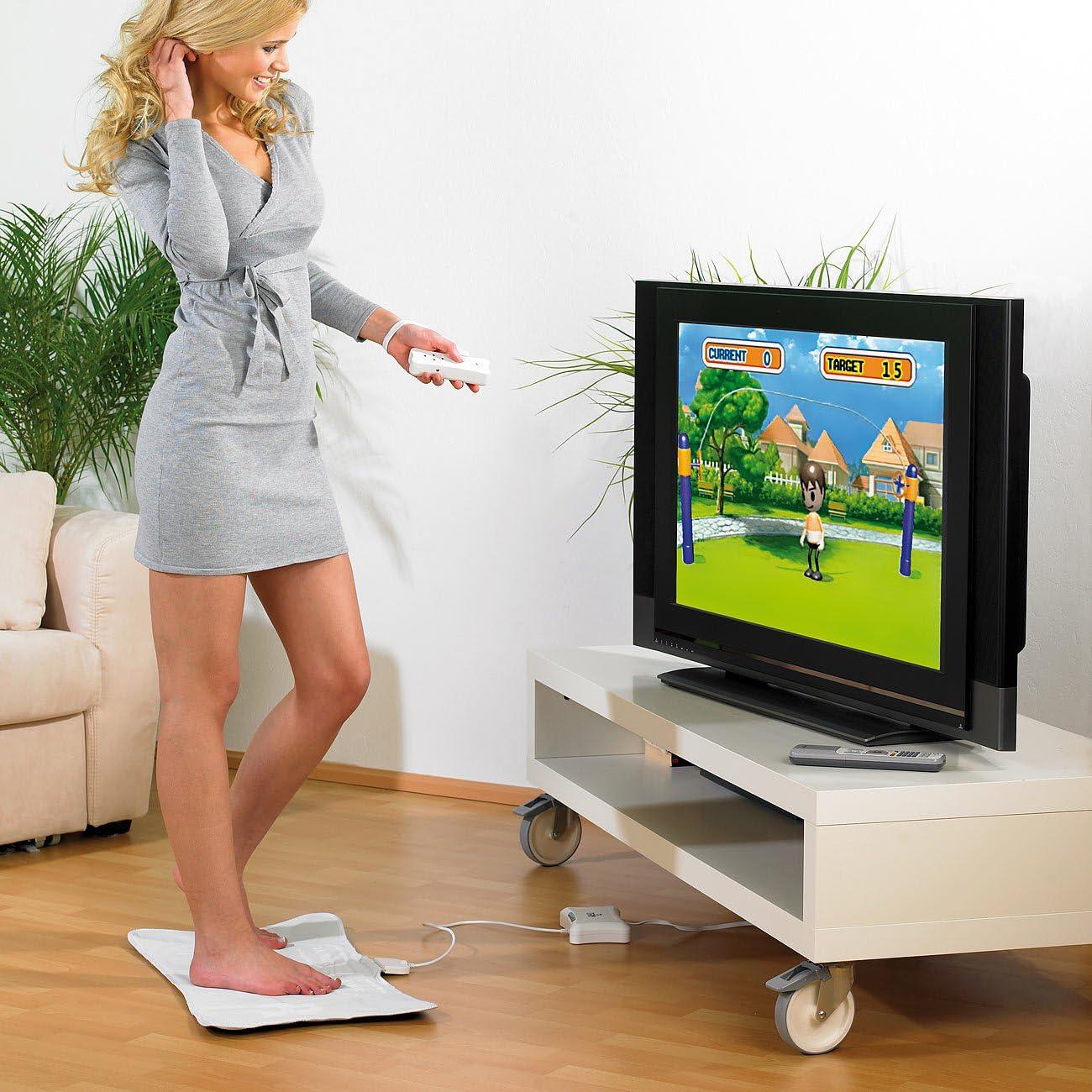 Consola tv-fitness con alfombra y mando: Amazon.es: Videojuegos