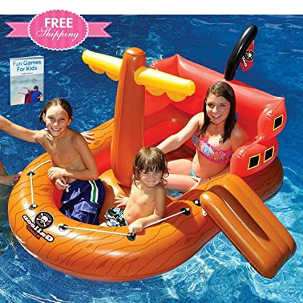 Amazon.com: Floating Boat Toy For Pool Inflatable Pool Float ...