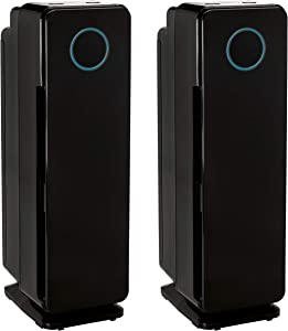 Germ Guardian True HEPA Filter Air Purifier, UV Light Sanitizer, Eliminates Germs, Filters Allergies,Pets, Pollen, Smoke, Dust, Mold, Odors, Quiet 22 inch 5-in-1 AirPurifier for Home AC4300BPTCA, 2PK