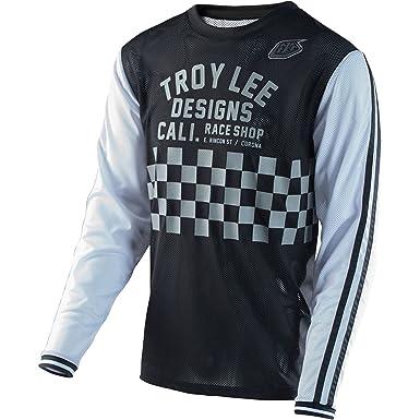 Troy Lee Designs Super Retro Check Men s BMX Bike Jersey - Black White    Medium 19b729d57