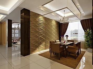 eco friendly 3d decorative wall panels inreda bamboo fiber 6 tiles 32 sq