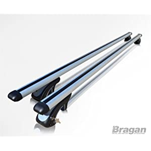 Bragan BRA1354_X086 Aluminium Roof Rack Rails Cross Bars + T Track Pieces