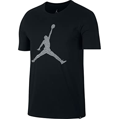 70bd8a56b9ae55 Jordan Jumpman Sportswear Men s Shortsleeve T-Shirt Black White Wolf Grey  aj1413-