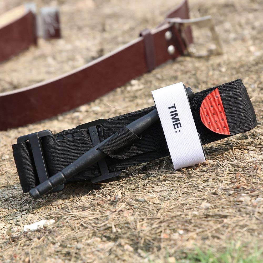 TiooDre 1 torniquete t/áctico de aplicaci/ón de Combate con Punta roja para emergencias m/édicas Militares