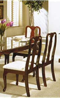 Set Of 2 Dining Chairs   Queen Anne Style Cherry Finish