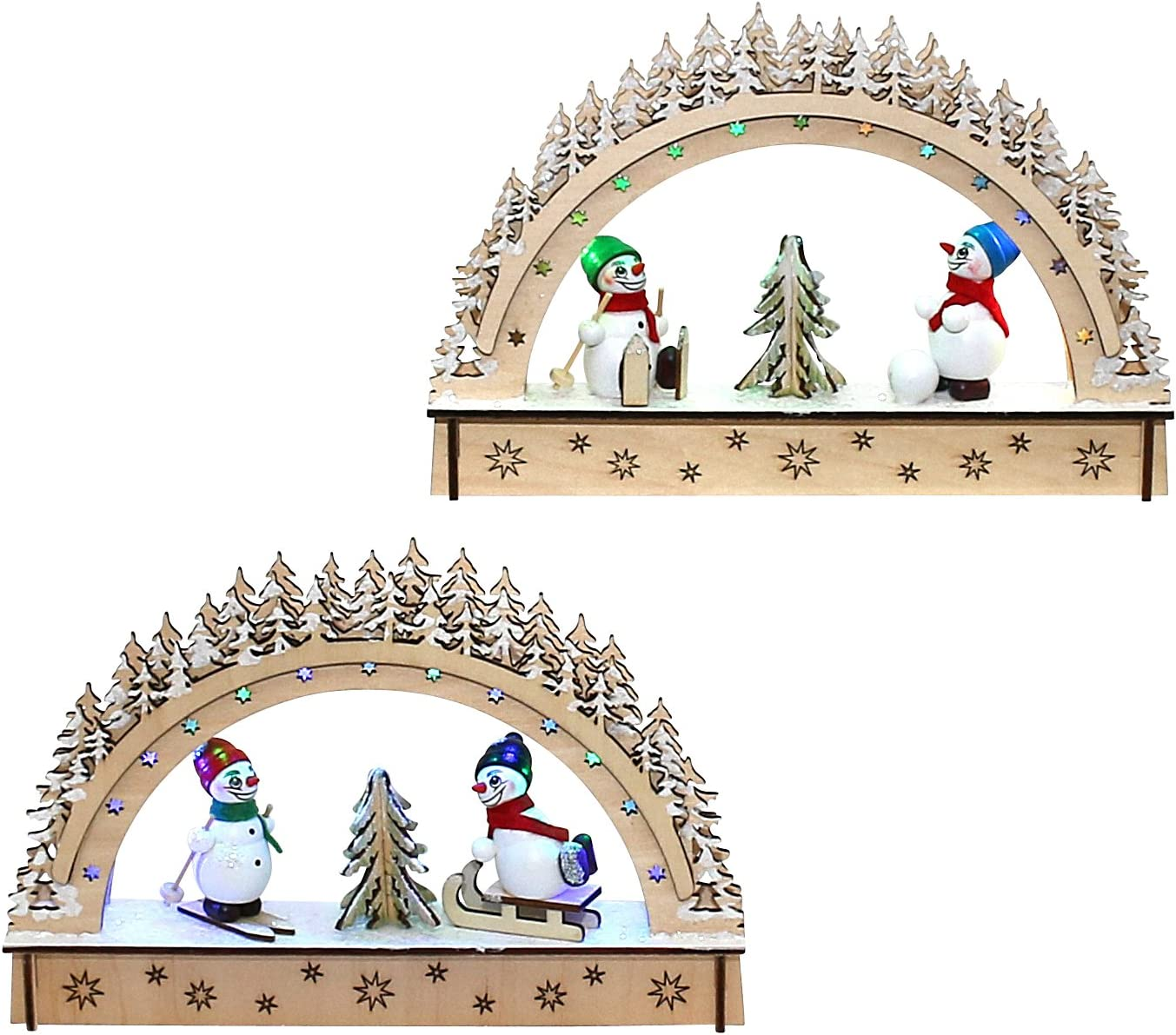 Beautiful for battery operated mini LED Candle Arch 22/x 4/x 15/cm/ /finest Wooden Wall Art mit Ball