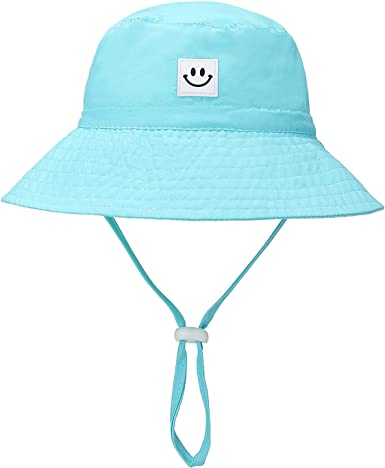 UV Protection Baby Boy Wide Brim Adjustable Star Bucket Hat Beach Hat