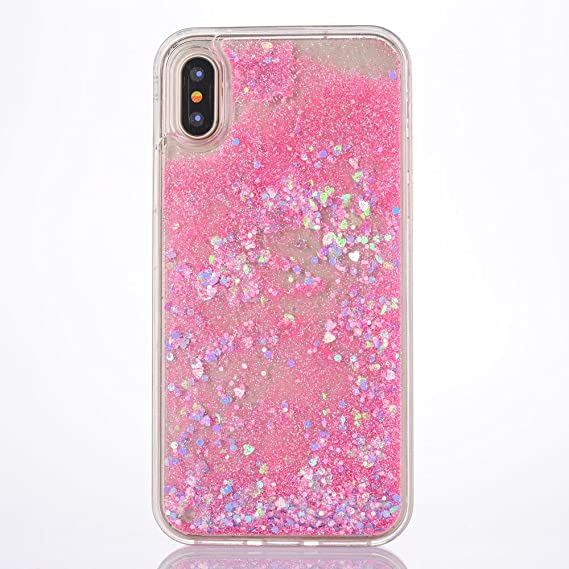 new arrival a8c65 55acf iPhone X Case, iPhone X Glitter Case, MACBOU Fashion Bling Creative Design  Flowing Liquid Case Floating Bling Diamond Sparkle Pattern Case Cover for  ...