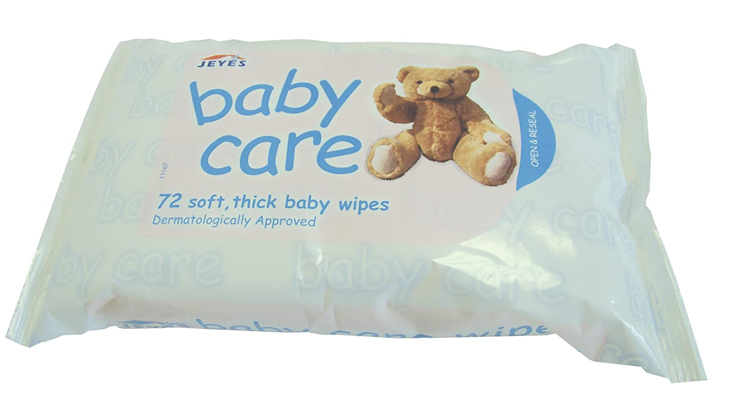 Jeyes Baby Care Extra Thick Wipes - 72 per Pack - Case of 12