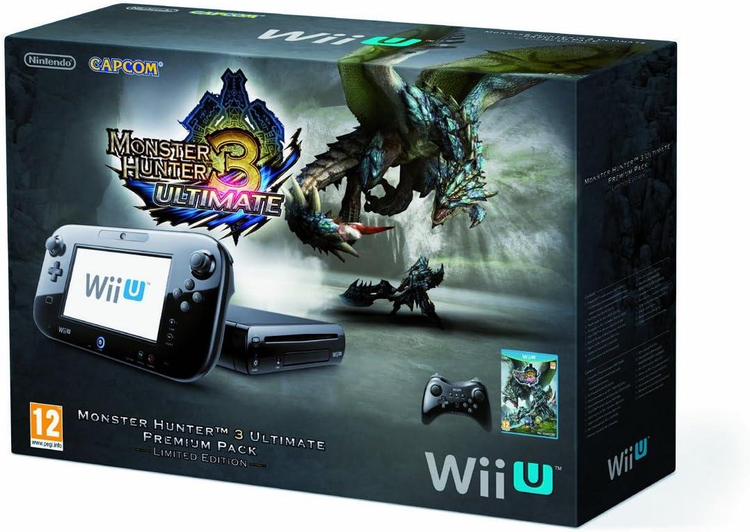 Nintendo Wii U - Pack Monster Hunter - 32 GB - Incluye Monster Hunter 3 y Pro Controller Negro: Amazon.es: Videojuegos