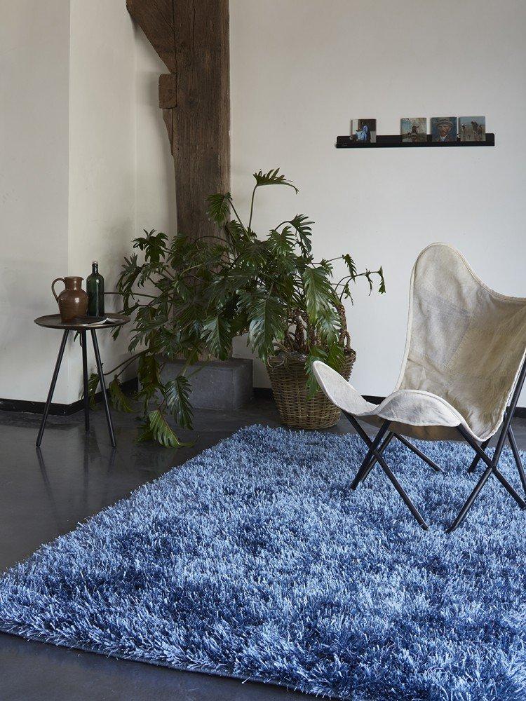 ESPRIT Cool Glamour Moderner Markenteppich, Polyester, Blau, 140 x 70 x 5 cm