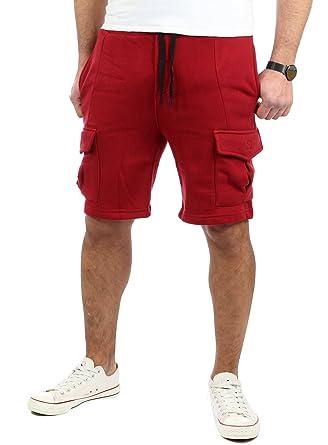 6d45392c8db7a6 Reslad Kurze Hose Herren Cargo Bermuda Shorts Jogginghose Sport-Hose  RS-5069 Bordeaux S