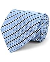 Men's Striped Microfiber Poly Woven Tie