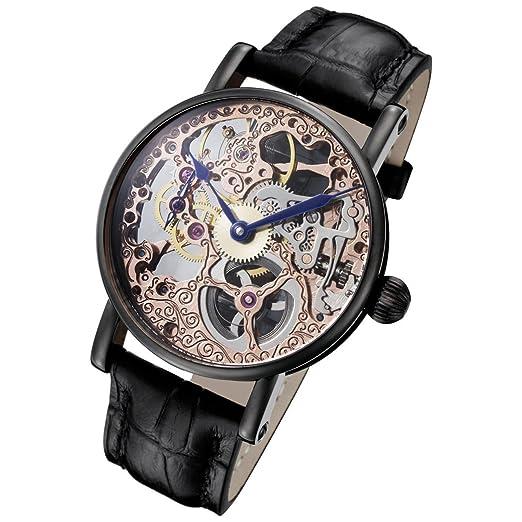 Rougois Tattoo Rose oro mecánico esqueleto reloj rs10004: Amazon.es: Relojes