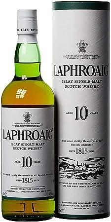 Whisky escocés de malta de color oro espumoso,Sus 10 años de envejecimiento en barricas de roble pre