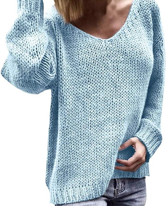 Poachers Jersey Lana Mujer Talla Grande Chaqueta Mujer Invierno Talla Grande Jersey Navidad Mujer y Hombre Jersey Mujer oto/ño Invierno Minivestido Vintage con Estampado de Playa Bohemia