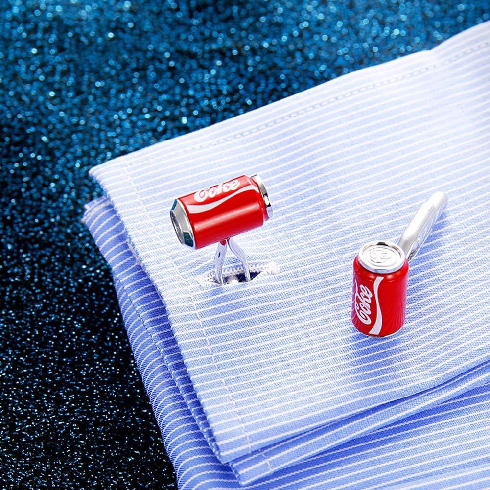 N·XHXL Botella De Coca-Cola para Hombre Gemelos, Boda De La Manera Negocios Camisa Espárragos/Gemelos Francés para El Partido De Ocio, Ropa para Accesorios De Joyería, Regalos para Él
