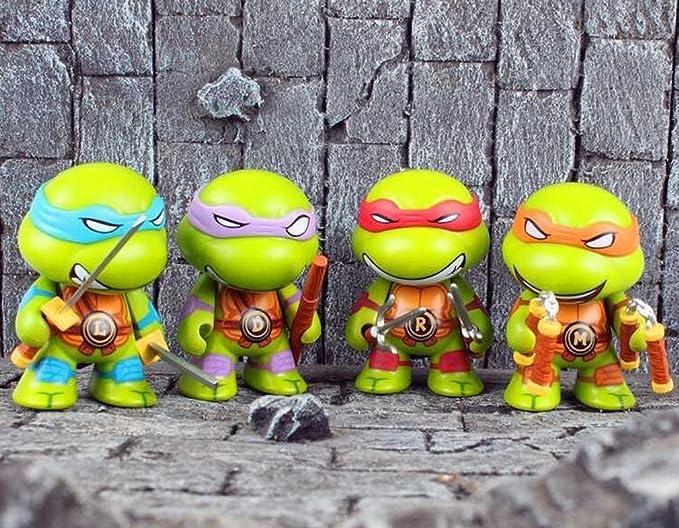 Amazon.com: kibby Cute Ninja Turtles cifras en miniatura set ...