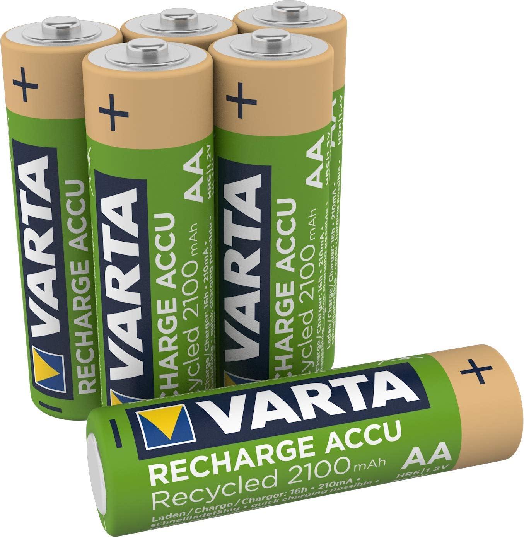 Varta Recharge Akku Recycled 2100 Mah 6er Pack Elektronik