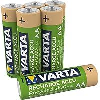 VARTA Recharge Accu gerecycled (oplaadbaar, ready-to-use voorgeladen AA Mignon Ni-MH batterij (2100 mAh), van 11…