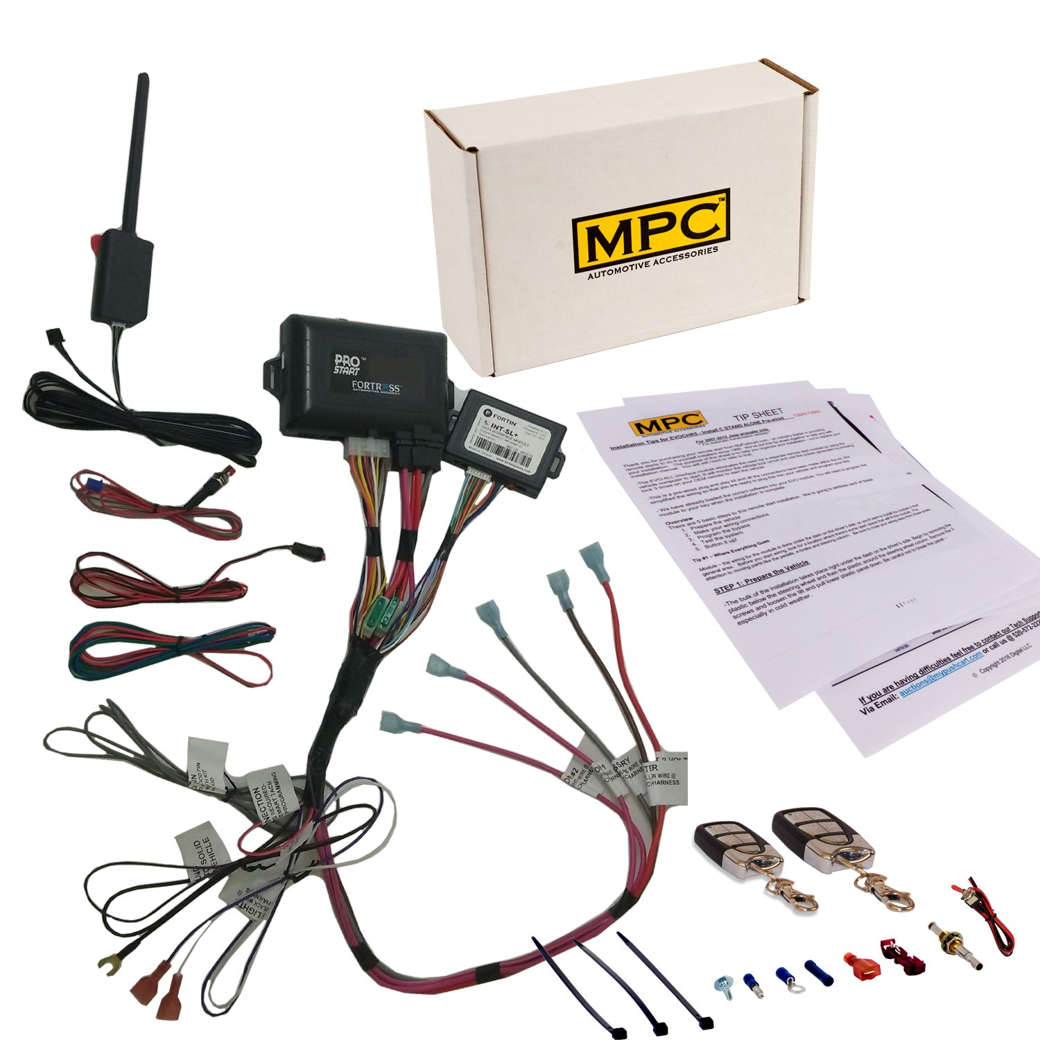 Mpc Remote Start Keyless Entry Kit Fits Select 2002 Chevy S10 Pick Up Wiring Diagram Window Chevrolet And Gmc Vehicles 2009 Prewired To Simplify Install Automotive