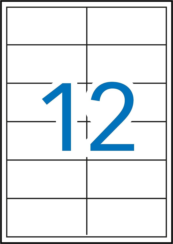 Apli Paper 3057 Etiquetas Adhesivas Blancas Multifunción Removibles 97,0x42,4 100H: Amazon.es: Oficina y papelería