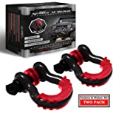 AUTMATCH Shackles 3/4' D Ring Shackle (2 Pack) 41,887Ibs Break Strength with 7/8' Screw Pin and Shackle Isolator…