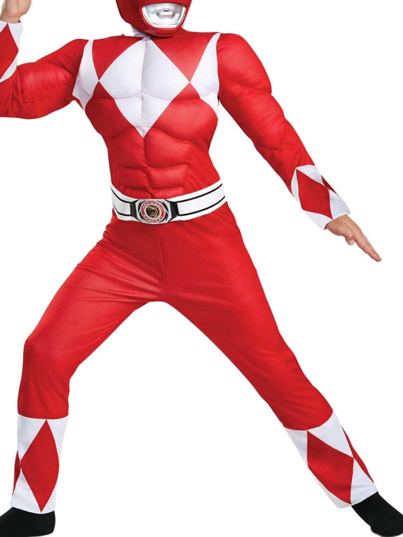Disfraz de Ranger Muscle Power Ranger Multicolor para niños, Rojo ...