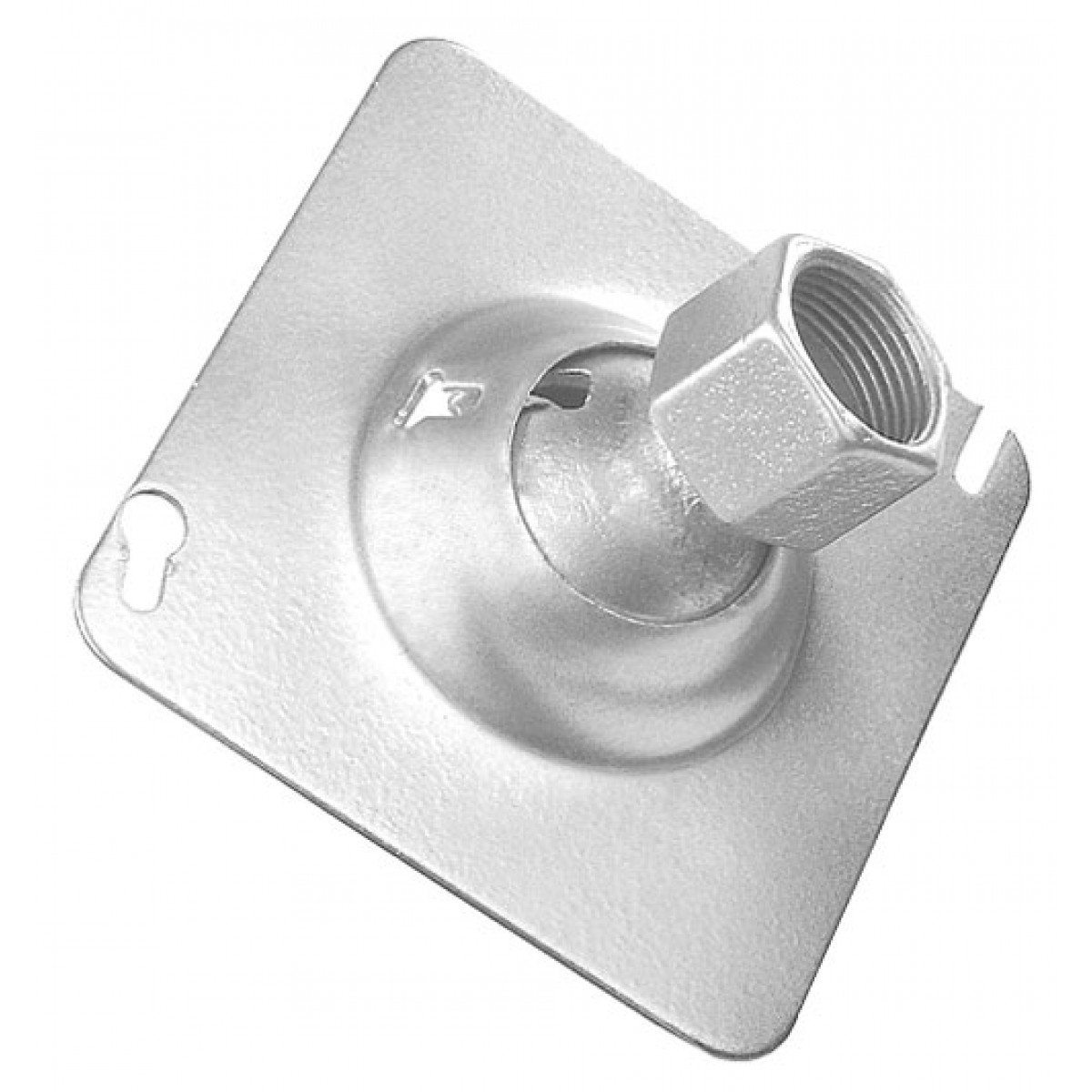2 Pcs, 4 In. Zinc Plated Steel Square Swivel Fixture Hanger Cover for 3/4 In. Pipe to Hang Light Fixtures, Security Cameras, Speakers & Electrical/Electronic Devices