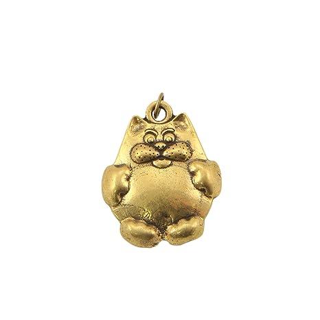 Gato de la burbuja bronce colgante hecho a mano souvenir ...