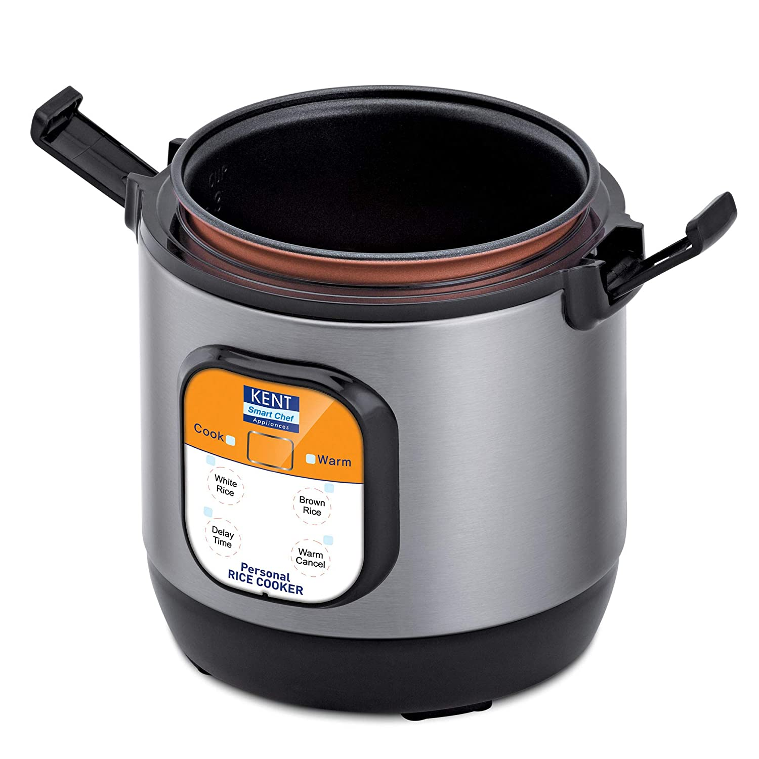 Open-Box & Refurbished (Unused) KENT Personal Rice Cooker 0.9-litres 180-Watt (Black and Silver) kida.in