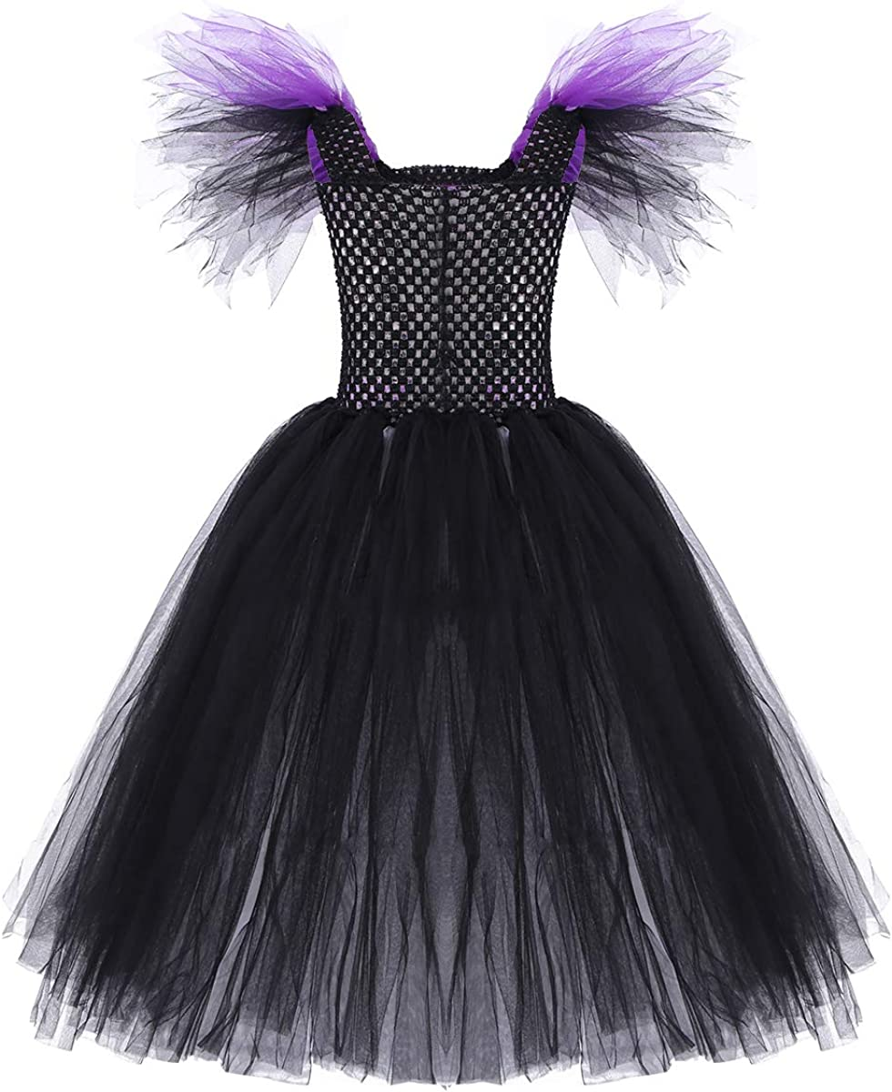 MSemis Disfraz de Bruja Maléfica para Niñas Cosplay Reina de ...