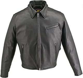 product image for Men's Horsehide Racer Jacket Snap Down Collar